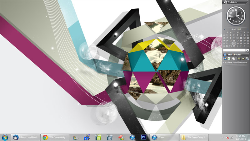 how to change your computer background